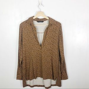 Anthropologie The Knot Sisters Cheetah Blouse